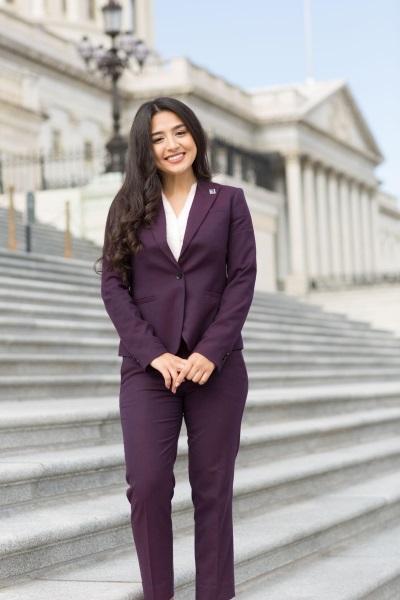 Brenda Ayon Verduzco on Steps of Senate