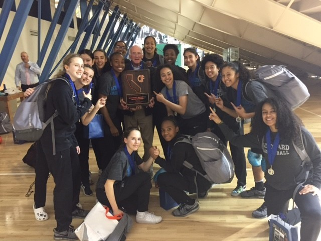 Professor David Tunick Profile Picture with Windward High School Girl's Basketball Team